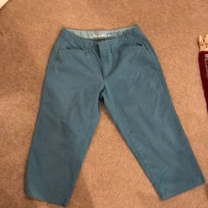 Eddie Bauer teal crop pants. Deep teal excellent